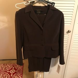 New! Allen By ABS Size 10 Women's Brown Suit NWT